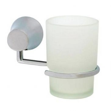PARK LANE CHROME PLATED TUMBLER AND HOLDER
